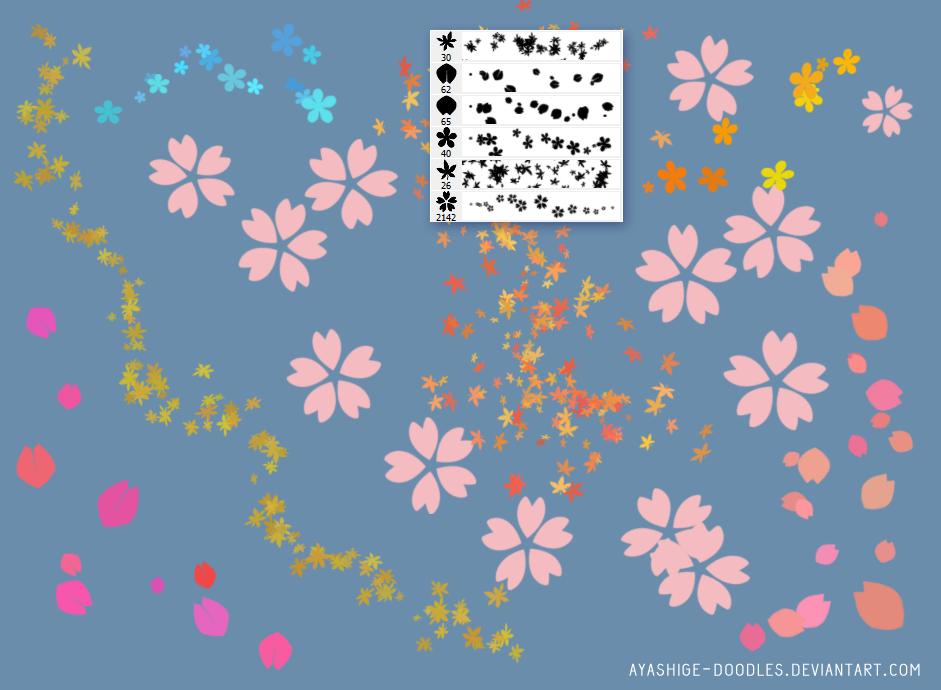 Sakura/ Momiji/ Petals BRUSHES (Ps)
