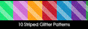 10 Striped Glitter Patterns