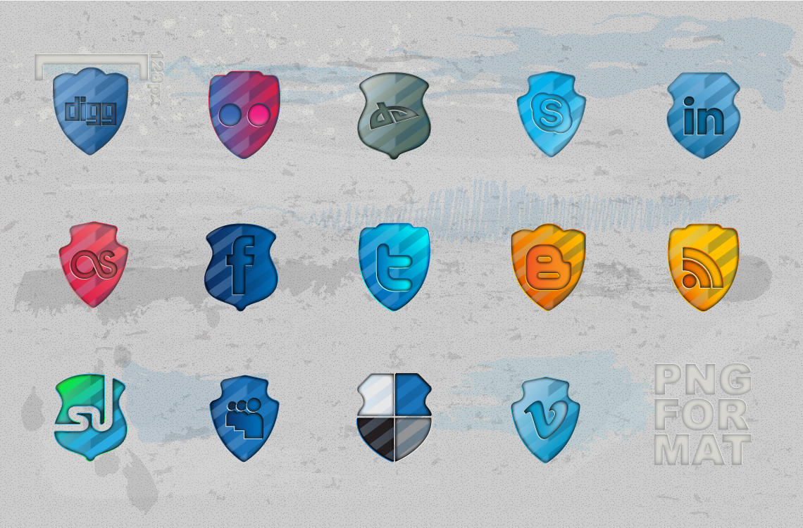 Social Networking Icons by PsychoPink