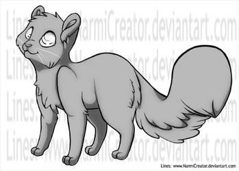 Free Cat Lineart-PSDdownload by NarmiCreator