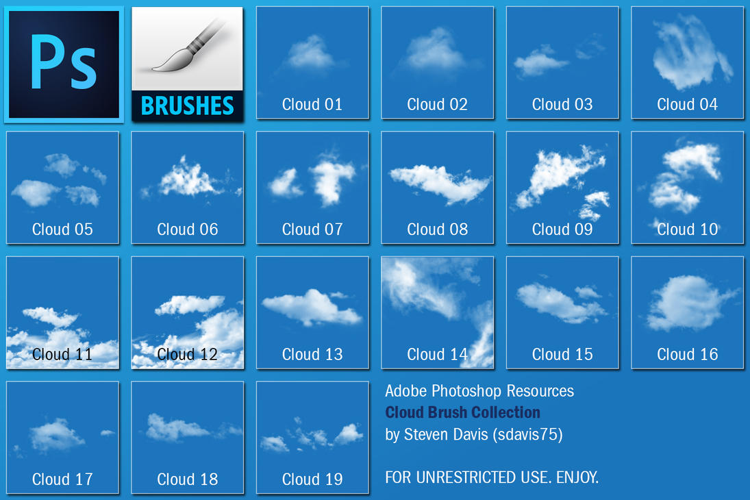 Photoshop Cloud Brushes by sdavis75 on DeviantArt