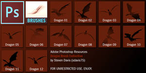 Photoshop Dragon Brushes