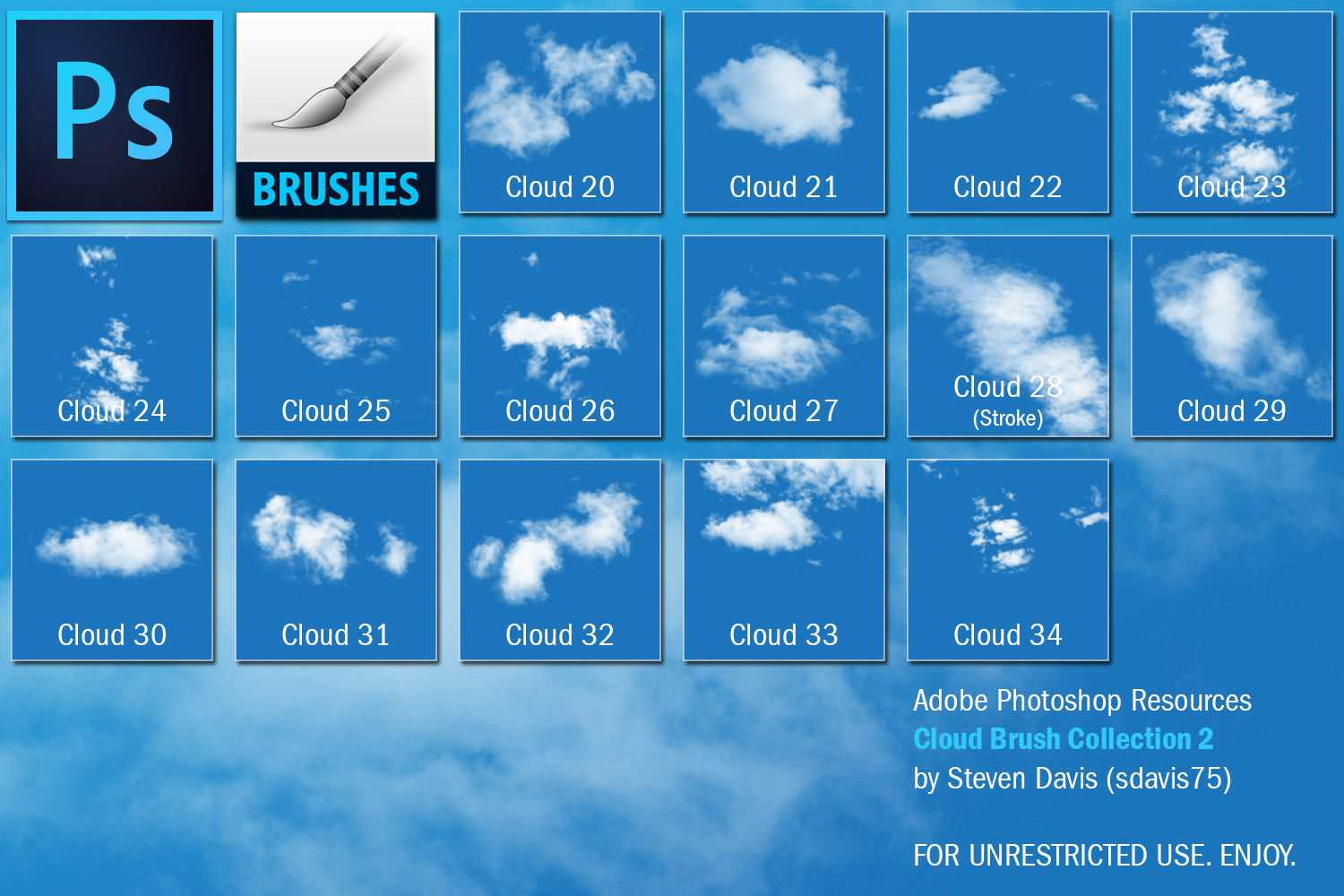 Photoshop Cloud Brushes 2