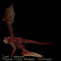 Red Dragon stock one by lorddarkwolf