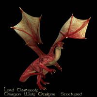 Red Dragon stock two by lorddarkwolf