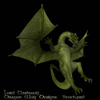 Green Dragon stock one by lorddarkwolf