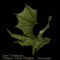 Green Dragon stock two by lorddarkwolf