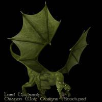 Green Dragon stock three by lorddarkwolf