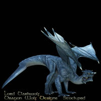 Blue Dragon stock two by lorddarkwolf