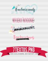 7 Textos PNG ~ by Utsutsu-chi