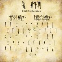 Free fantasy font: LSW Drachenklaue