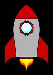 Retro Rocket Ship by RetSamys