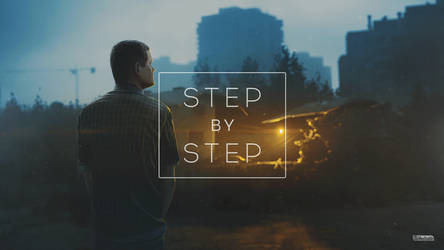 Golden blue / step by step gif