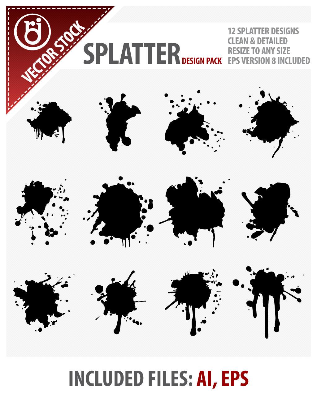 Splatter Design Pack by rjDezigns