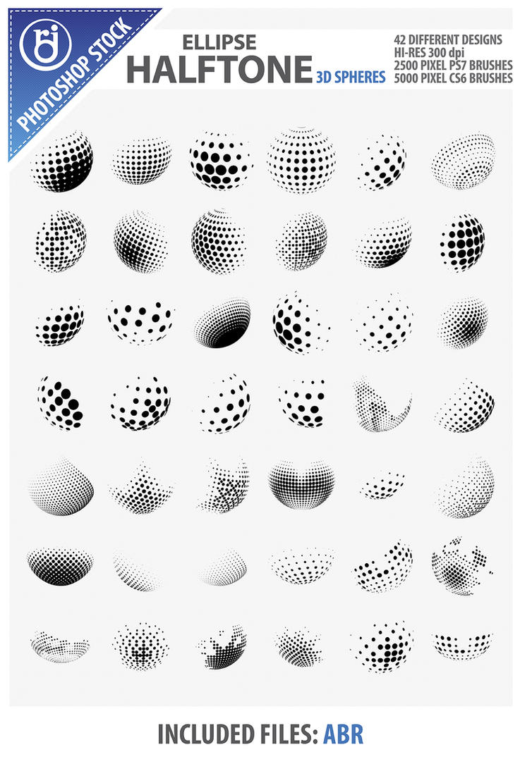 Ellipse 3D Sphere Brushes by rjDezigns