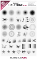 Square Halftone Vectors by rjDezigns