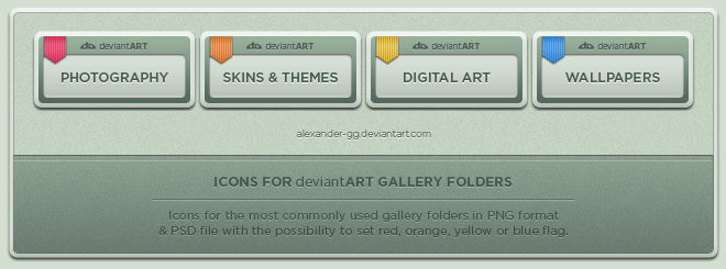 deviantART Gallery Icons