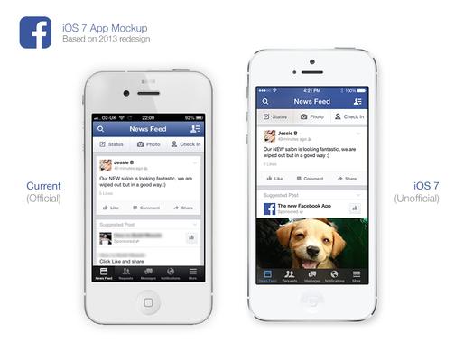 Facebook 2013 App Redesign