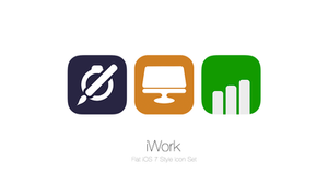 iWork Flat iOS 7 Style Icon Pack