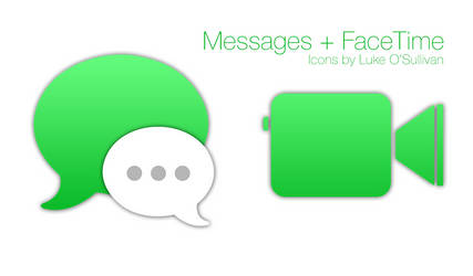 Messages + FaceTime Icons by Luke O'Sullivan