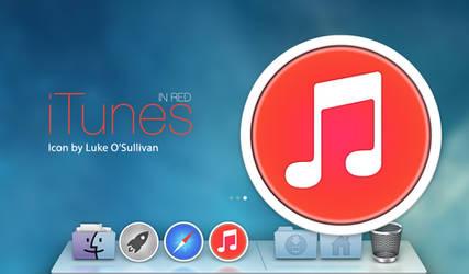 iTunes Icon: Red, by Luke O'Sullivan