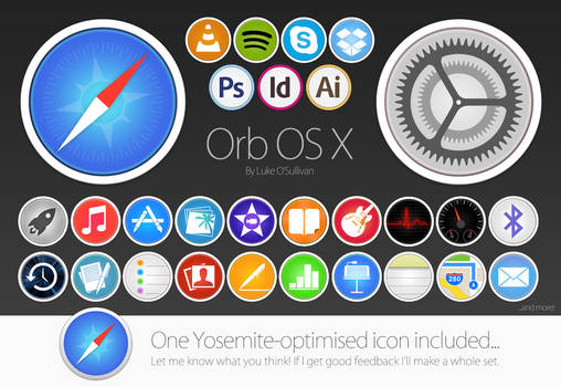 ORB OS X Icon Pack by Luke O'Sullivan -UPDATEDx2 by osullivanluke