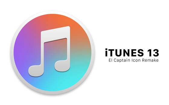 iTunes 13 / Apple Music El Captain Icon Remake