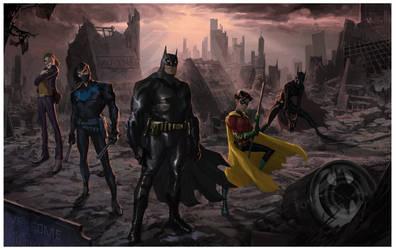 Batman: No Man's Land pitch piece by SpawnofSprang