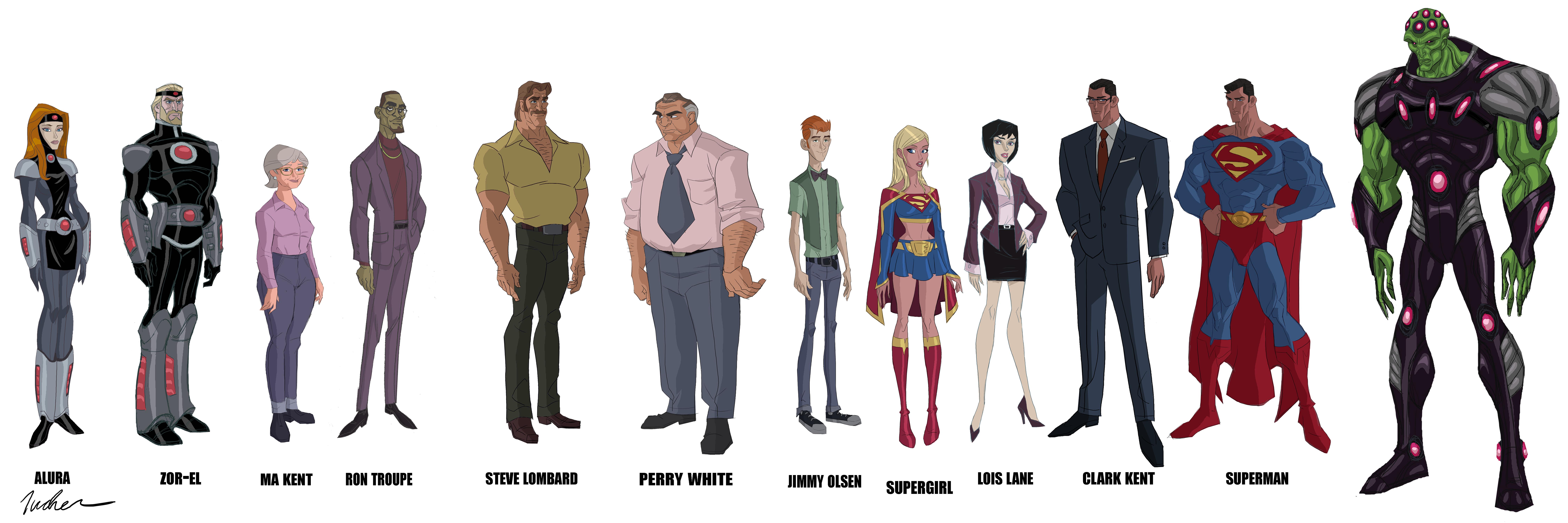 Superman Unbound designs