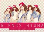 5 PNGs Hyuna