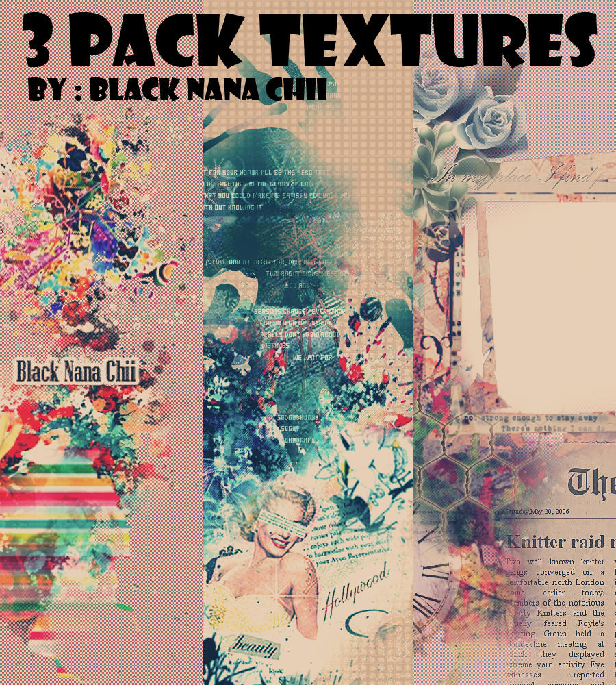 3 Pack Textures By BlackNanaChii by BlackNanaChii