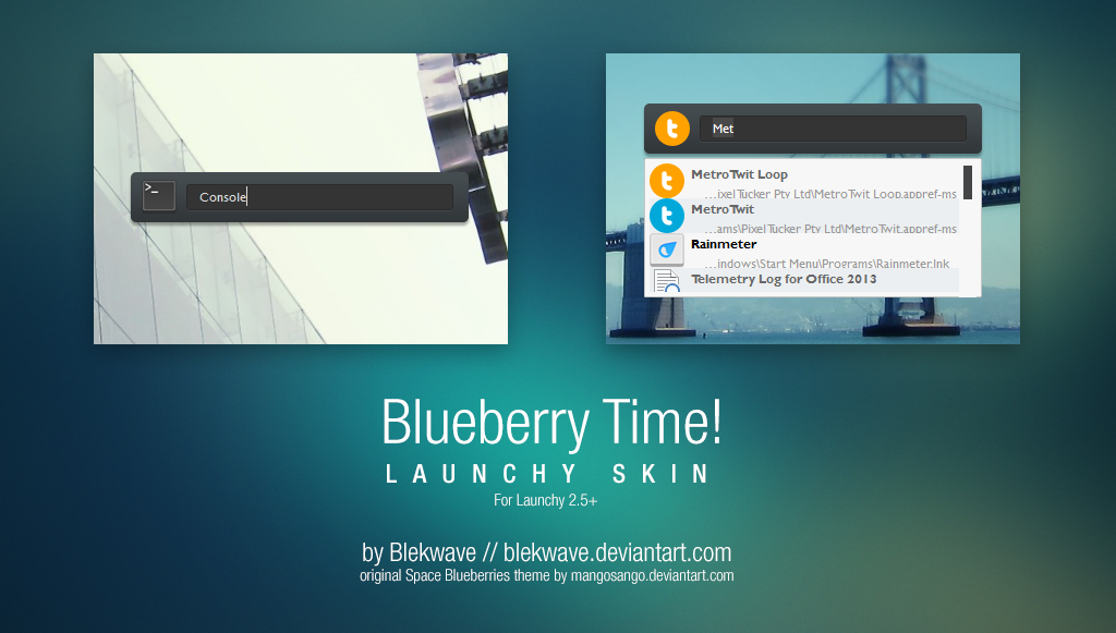 Blueberry Time! for Launchy by Blekwave