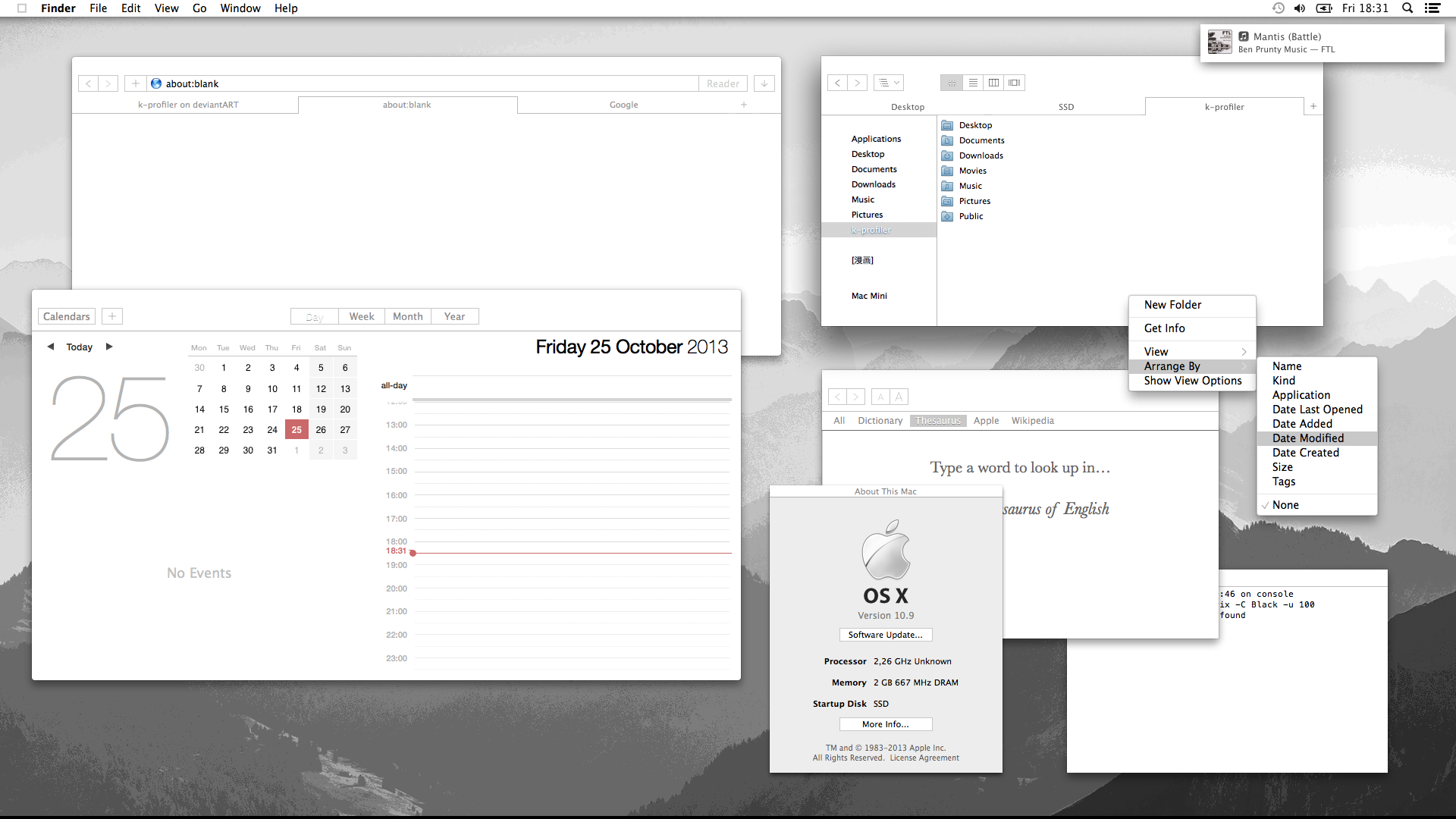 Minimal Theme for Mavericks (with Installer!) by k-profiler