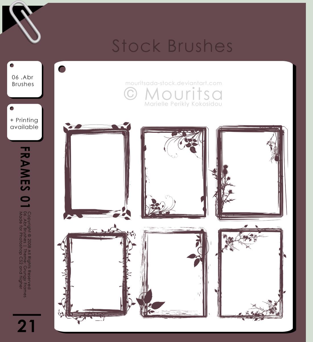 Brush Pack - Grungy Frames 01