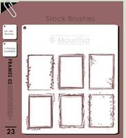 Brush Pack - Grungy Frames 02 by iMouritsa