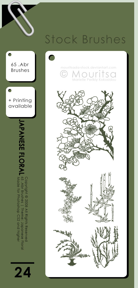 Brush Pack - Japanese Floral by MouritsaDA-Stock