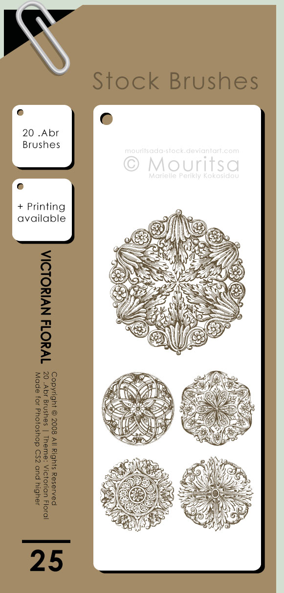 Brush Pack - Victorian Floral