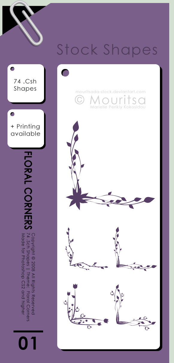 Shape Pack - Flower Corners