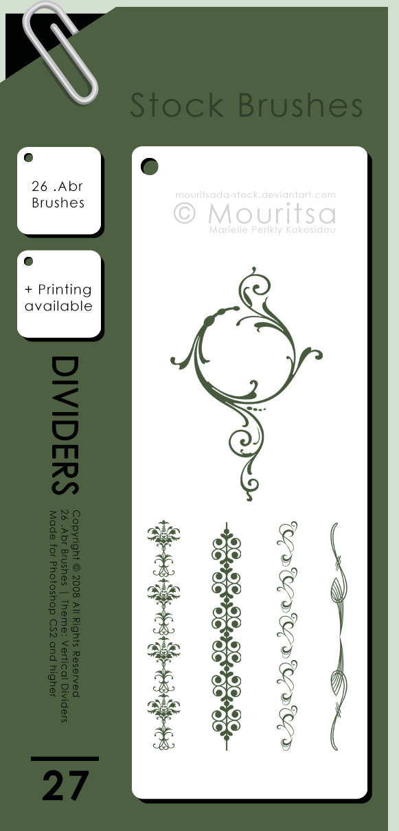 Brush Pack - Vertical Dividers by MouritsaDA-Stock