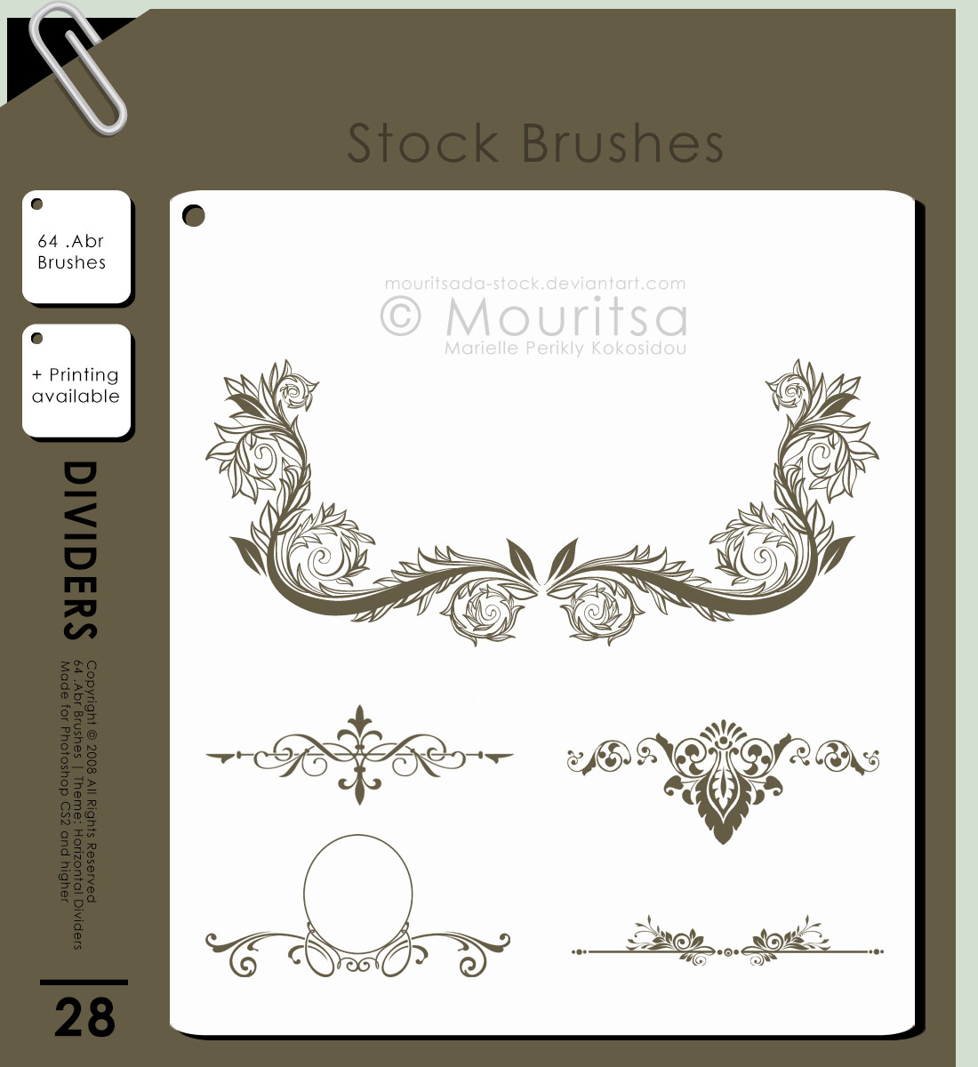 Brush Pack-Horizontal Dividers by MouritsaDA-Stock