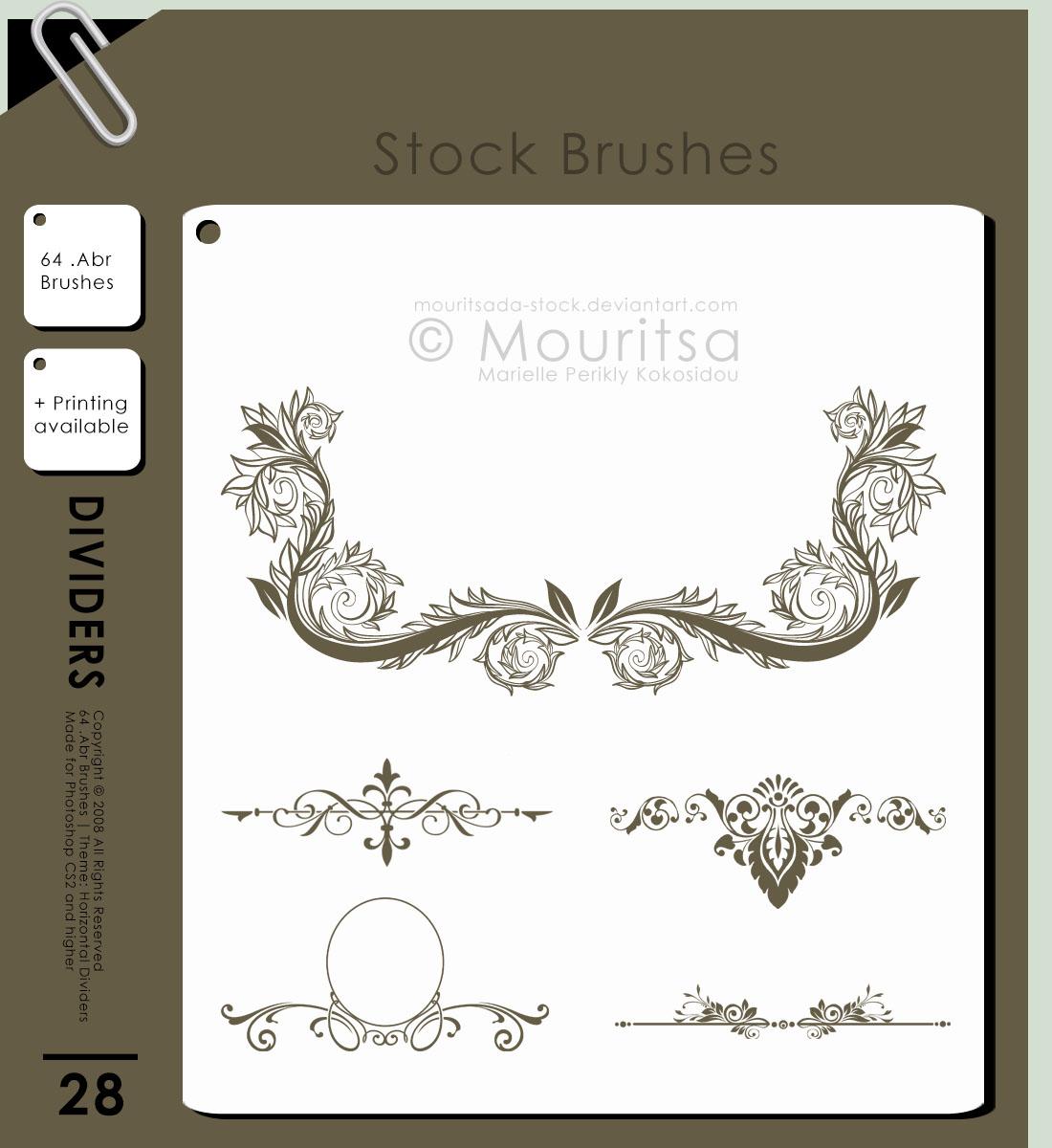 Brush Pack-Horizontal Dividers by MouritsaDA-Stock
