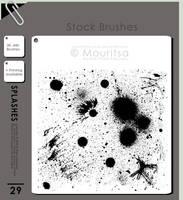 Brush Pack - Splashes Of Paint by iMouritsa