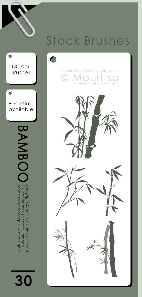 Brush Pack - Bamboo by MouritsaDA-Stock