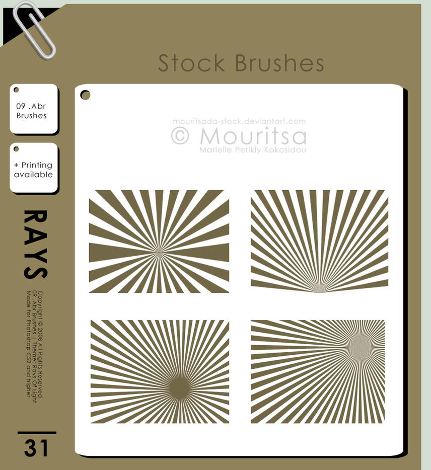 Brush Pack - Rays Of Light by iMouritsa