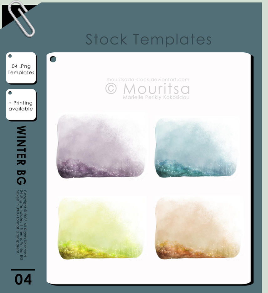 Template Pack - Winter Background by MouritsaDA-Stock