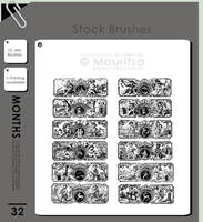 Brush Pack - 12 Months by iMouritsa