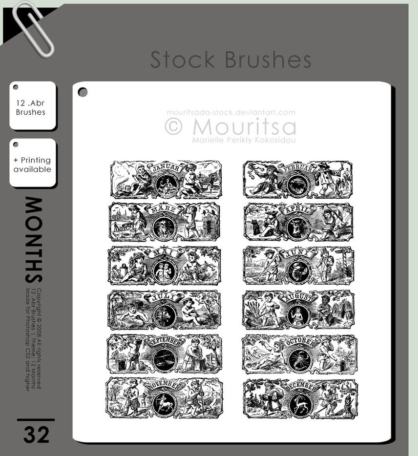 Brush Pack - 12 Months by MouritsaDA-Stock