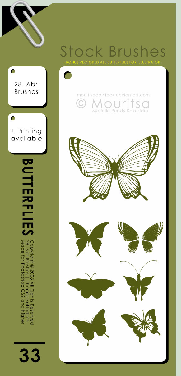 Brush Pack - Butterflies by MouritsaDA-Stock