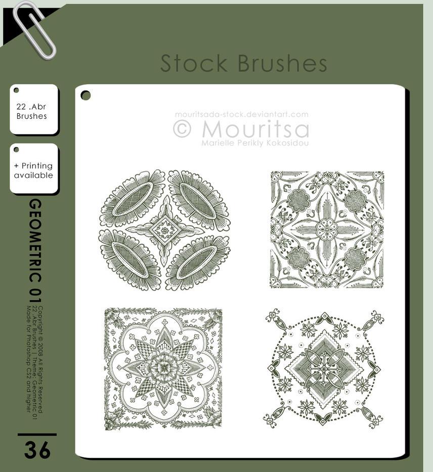 Brush Pack - Geometric 01 by MouritsaDA-Stock