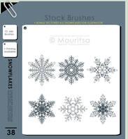 Brush Pack - Snowflakes by iMouritsa